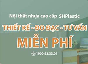 SHPlastic miễn phí tư vấn đo đạc và thiết kế nội thất