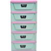 Tủ nhựa Song Long Panda 5 tầng xanh phối hồng